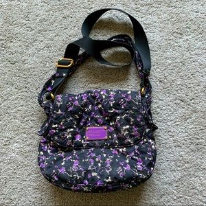 Marc Jacobs floral quilted nylon crossbody bag